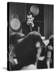 "Dick Clark on His TV Show the ""American Bandstand"" by Paul Schutzer"