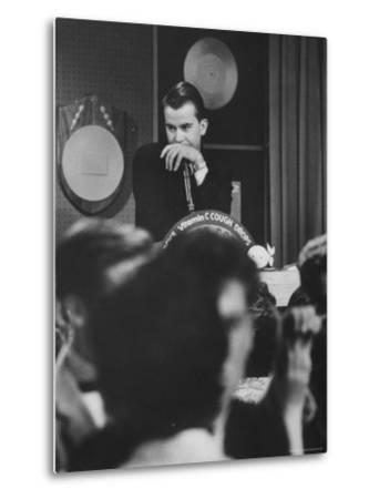 """Dick Clark on His TV Show the """"American Bandstand"""" by Paul Schutzer"""