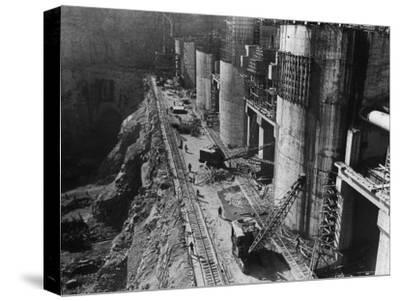 During Construction of the Aswan Dam