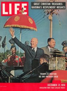 Dwight D. Eisenhower with Pakistani President Ayub, December 21, 1959 by Paul Schutzer