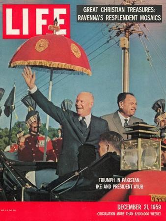 Dwight D. Eisenhower with Pakistani President Ayub, December 21, 1959