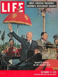 Dwight D. Eisenhower with Pakistani President Ayub, December 21, 1959 by Paul Schutzer