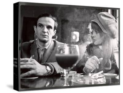 """Film Director Francois Truffaut with Actress Julie Christie During Filming of """"Fahrenheit 451."""""""