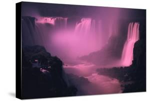 Iquassu (Iguacu) Falls on Brazil-Argentina Border, Once known as Santa Maria Falls, at Twilight by Paul Schutzer