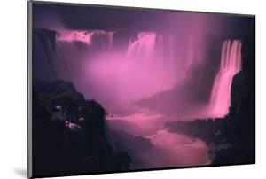 Iquassu (Iguacu) Falls on Brazil-Argentina Border, Once known as Santa Maria Falls, at Twilight by Paul Schutzer