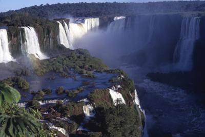 Iquassu (Iguacu) Falls on Brazil-Argentina Border, Once known as Santa Maria Falls by Paul Schutzer