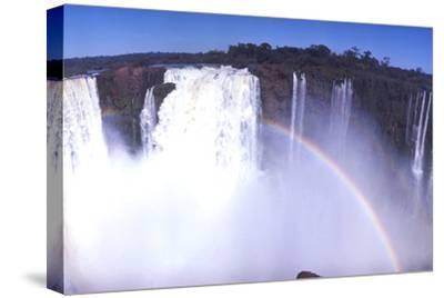 Iquassu (Iguacu) Falls on Brazil-Argentina Border, Once known as Santa Maria Falls