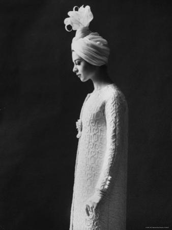 Model Wearing Costume from Collection of Famous Designers by Paul Schutzer