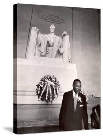 Reverend Martin Luther King Jr. at Lincoln Memorial