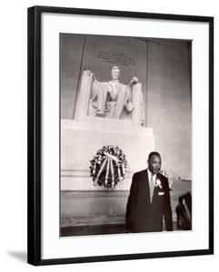 Reverend Martin Luther King Jr. at Lincoln Memorial by Paul Schutzer