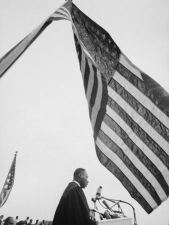 Reverend Martin Luther King Jr. Speaking at Prayer Pilgrimage for Freedom at Lincoln Memorial