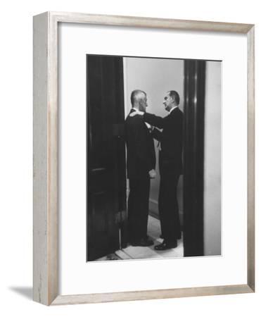 Sen. Lyndon B. Johnson Talking to Sen. Leverett Saltonstall
