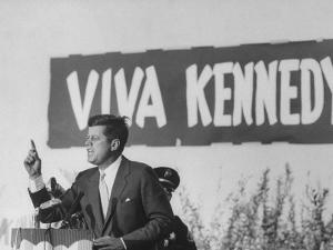 Senator John F. Kennedy Campaigning For President by Paul Schutzer
