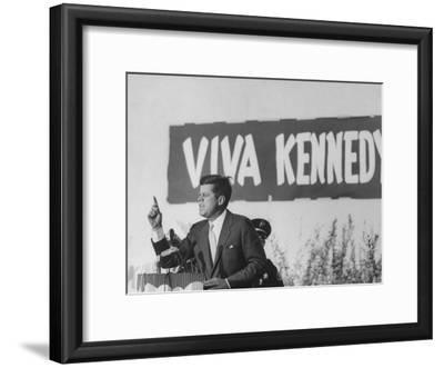 Senator John F. Kennedy Campaigning For President