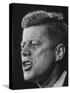 Senator John F. Kennedy During Campaign For Presidency by Paul Schutzer