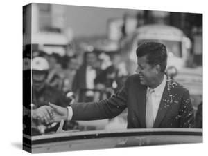 Senator John F. Kennedy During Campaigning by Paul Schutzer