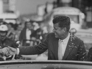 Senator John F. Kennedy During Campaigning by Paul Schutzer