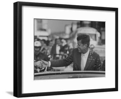Senator John F. Kennedy During Campaigning