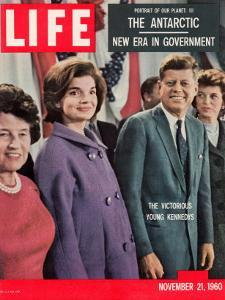 Victorious Young Kennedys, President-elect John Kennedy with Wife and Mother, November 21, 1960 by Paul Schutzer