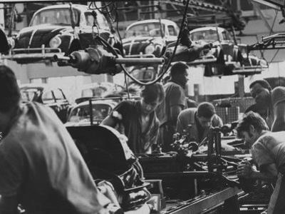 View of an Assembly Lin at the Volkswagen Plant in Sao Paulo by Paul Schutzer
