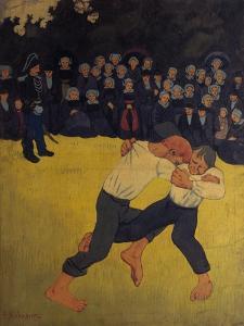 Breton Wrestling by Paul Serusier