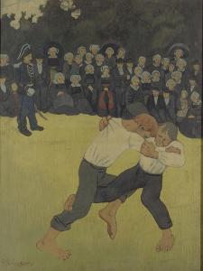 La lutte bretonne by Paul Serusier