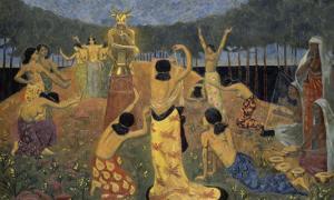 """Les filles de Pelichtim (""""Philistins""""en hébreu) by Paul Serusier"""