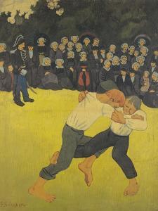 The Wrestling Bretons, circa 1893 by Paul Serusier
