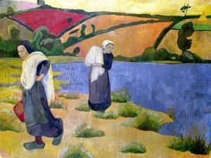 Washerwomen at the Laita River, Near Pouldu, 1892 by Paul Serusier