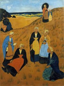 Young Breton Women Wearing Shawls, or the Girls of Douarnenez, 1895 by Paul Serusier