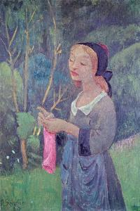 Young Girl with a Pink Stocking or Young Breton Knitting, 1920 by Paul Serusier