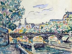 Bank of the Seine Near the Pont Des Arts with a View of the Louvre, Early 20th Century by Paul Signac