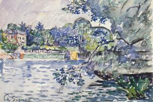 Banks of the Seine, C1900 by Paul Signac