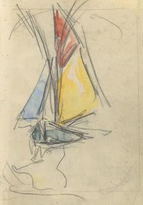 Carnet : Bateau à voile by Paul Signac