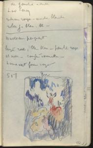 Carnet : Composition dans un encadrement et annotations by Paul Signac
