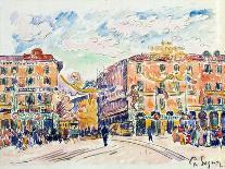 Le Port au soleil couchant, Opus 236 (Saint-Tropez), 1892-Paul Signac-Giclee Print