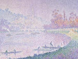 Die Seine Bei Saint-Cloud, 1900 by Paul Signac