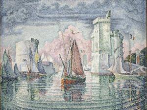 Entrée du port de la Rochelle by Paul Signac