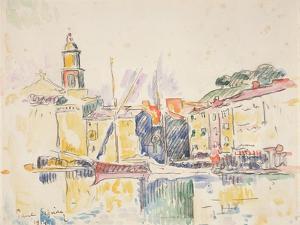 French Port of St. Tropez, 1914 by Paul Signac