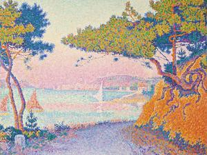 Golfe Juan, 1896 by Paul Signac