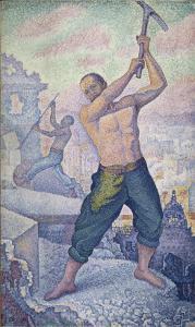 L'ouvrier ou les démolisseurs by Paul Signac