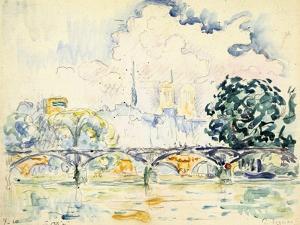 La Cité: le Pont des Arts by Paul Signac