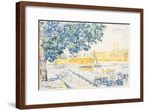La Seine à Asnières, 1900 (w/c & pencil on paper) by Paul Signac