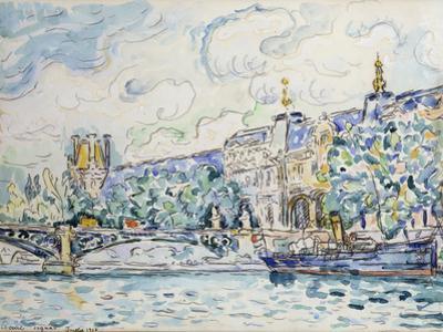 Le Palais Du Louvre, 1910 by Paul Signac