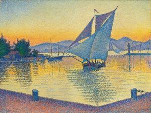 Le Port au soleil couchant, Opus 236 (Saint-Tropez), 1892 by Paul Signac