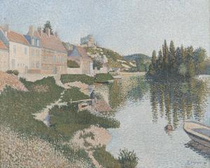 Les Andelys; La Berge, 1886 by Paul Signac