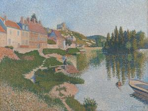 Les Andelys. the Riverbank, 1886 by Paul Signac