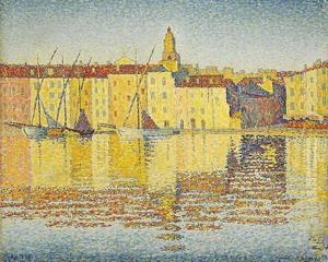 Maisons Du Port, Saint-Tropez by Paul Signac