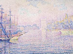 Marseille Port, Morning Mist (Le port de Marseille, Brume Matinale). 1906 by Paul Signac