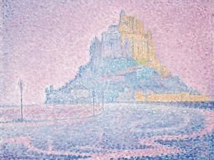 Mont Saint-Michel, Fog and Sun, 1897 by Paul Signac